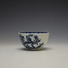 Lowestoft Two Peacock and Peony Pattern Teabowl and Saucer c1775-85 (5)
