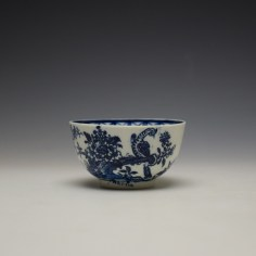 Lowestoft Two Peacock and Peony Pattern Teabowl and Saucer c1775-85 (6)