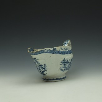 Derby Fisherman and Landscape Pattern Sauceboat c1765 (2)