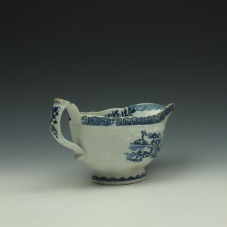 Derby Fisherman and Landscape Pattern Sauceboat c1765 (5)