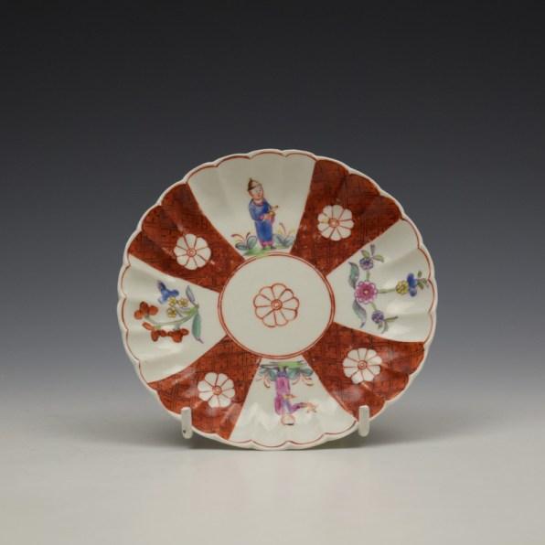 Derby Porcelain Scarlet Japan Mandarin Pattern Coffee Cup and Saucer c1758-80 (11)