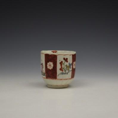 Derby Porcelain Scarlet Japan Mandarin Pattern Coffee Cup and Saucer c1758-80 (3)