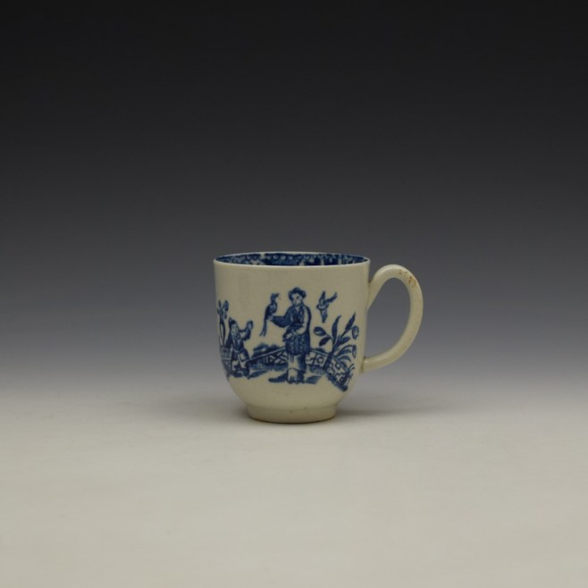 Liverpool John and Jane Pennington Chinese Lady With Boy and Bird Pattern Coffee Cup c1780-90 (1)