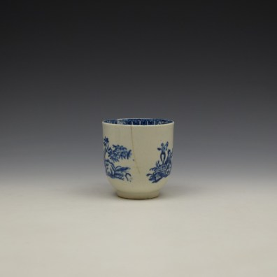 Liverpool John and Jane Pennington Chinese Lady With Boy and Bird Pattern Coffee Cup c1780-90 (3)