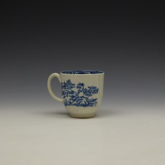 Liverpool John and Jane Pennington Chinese Lady With Boy and Bird Pattern Coffee Cup c1780-90 (4)