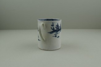 Liverpool Porcelain Pennington's Cannonball Pattern Coffee Can. 5