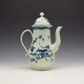 Liverpool Richard Chaffers Floral Mould Pattern Coffee Pot and Cover c1760 (5)