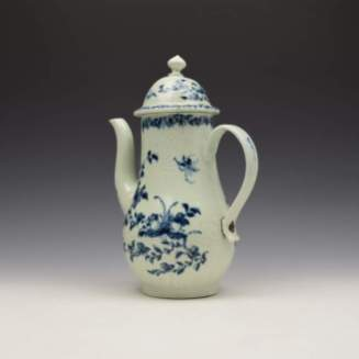 Liverpool Richard Chaffers Floral Mould Pattern Coffee Pot and Cover c1760 (8)