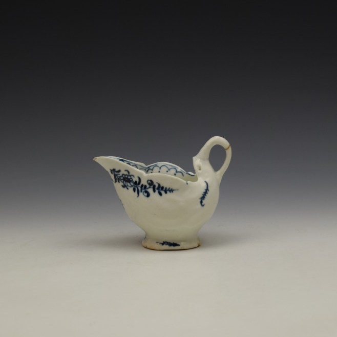 Lowestoft Daisy Pattern Dolphin Ewer c1770-75 (1)