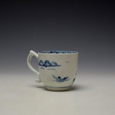 Lowestoft Elizabeth Johnson Pattern Coffee Cup c1765-68 (3)