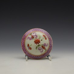 Lowestoft Floral Pattern Teapot and Matched Cover c1780 (9)