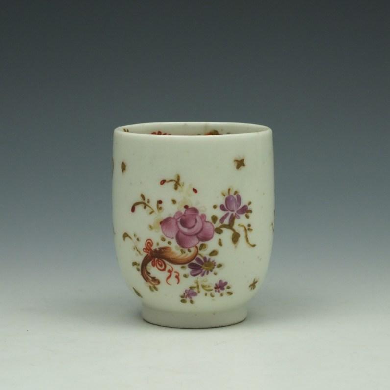 Lowestoft Rose and Cornucopia Pattern Coffee Cup c1785 (1)