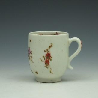 Lowestoft Rose and Cornucopia Pattern Coffee Cup c1785 (2)