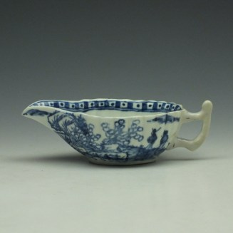 Vauxhall Two Men on a Rocky Island Pattern Butterboat c1757-62 (2)