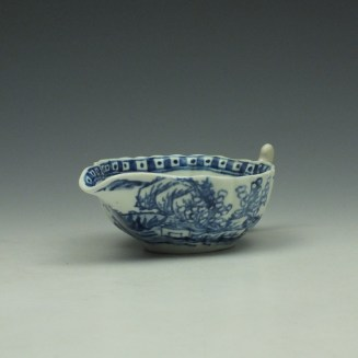 Vauxhall Two Men on a Rocky Island Pattern Butterboat c1757-62 (4)