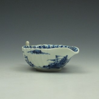 Vauxhall Two Men on a Rocky Island Pattern Butterboat c1757-62 (5)