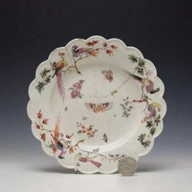 West Pans Floral Pattern Plate c1760-65 (2)
