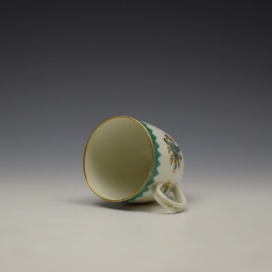 Worcester Green Floral Pattern Coffee Cup c1770 (6)