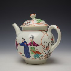 Worcester Mandarin Fish Monger Boy In the Window Pattern Teapot and Cover c1775-80 (8)