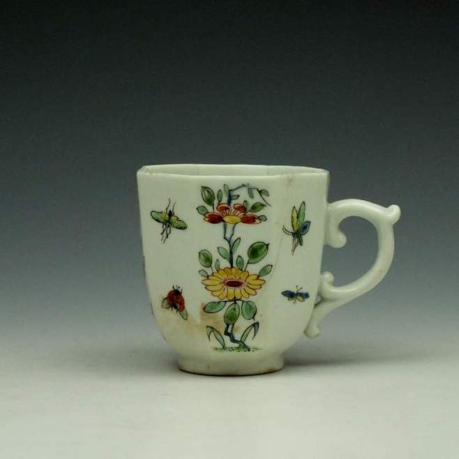 Worcester Octagonal Floral Pattern Coffee Cup c1752-53 (1)