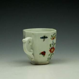 Worcester Octagonal Floral Pattern Coffee Cup c1752-53 (4)