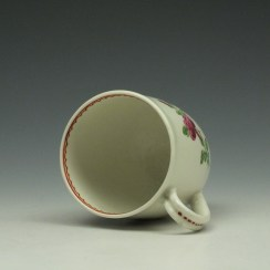 Worcester Porcelain Rose Pattern Coffee Cup c1770-85 (6)