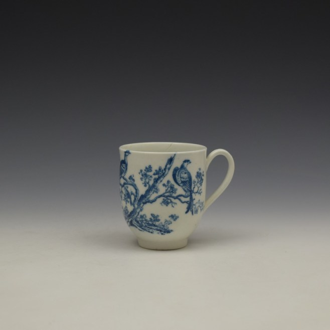 Caughley Birds In Branches Pattern Coffee Cup c1778-92 (1)