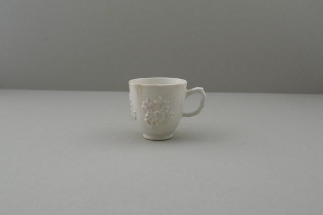 Bow Porcelain Blanc de Chine Molded Coffee cup, C1756. 1