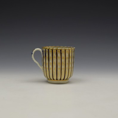 Blue and Gold Arrow and Dot Pattern Trio c1775-85 (3)