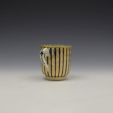 Blue and Gold Arrow and Dot Pattern Trio c1775-85 (4)