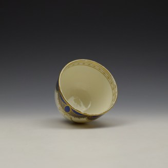 Caughley Blue and Gold Garland Pattern Sucrier and Cover c1785-95 (5)