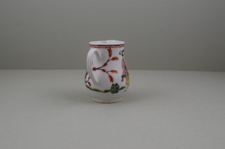 Bow Porcelain Mandarin Pattern Sparrow Beak Jug, C1760 (5)
