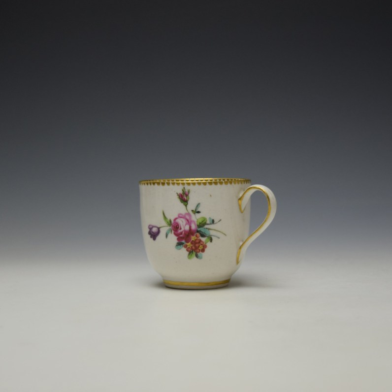 Chelsea Derby Floral Pattern Coffee Cup c1768-70 (1)