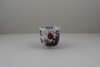 Lowestoft Porcelain Clobbered House and Landscape Pattern Coffee Cup, C1765-68 (2)
