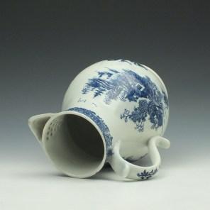 Lowestoft Porcelain Dark Landscape Pattern Coffee Pot, c1790 (6)