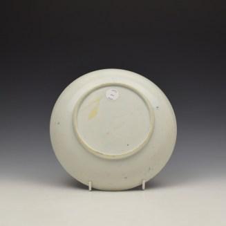Lowestoft Dark Landscape Pattern Saucer Dish c1790 (3)