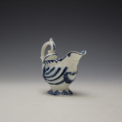 Derby Porcelain Moulded Dolphin Ewer c1770 (3)