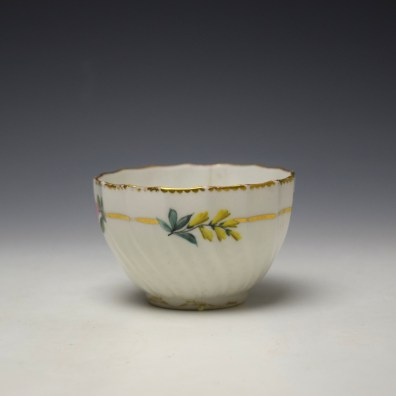 Derby Spirally Fluted Teabowl c1790 (2)