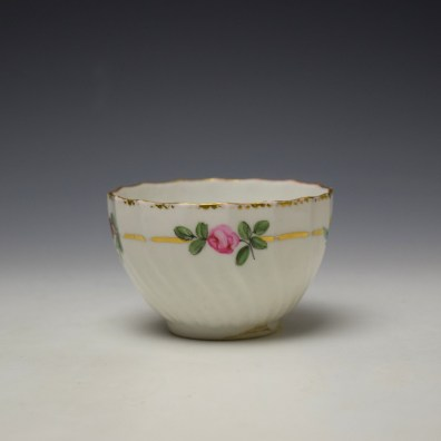 Derby Spirally Fluted Teabowl c1790 (3)