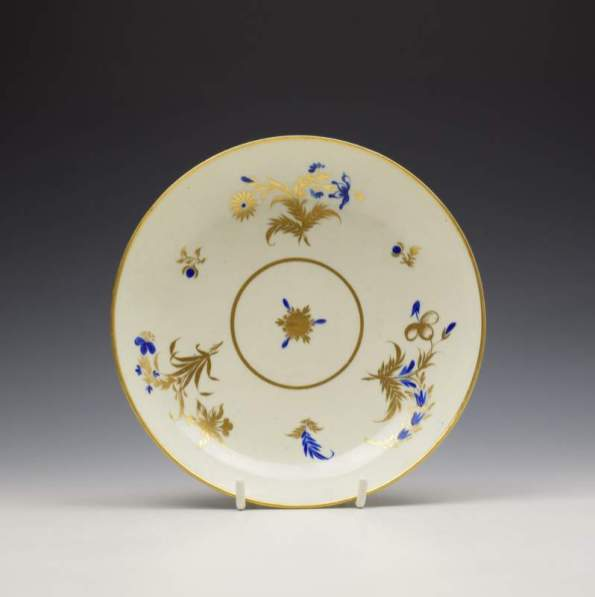 Worcester Dry Blue Daffodil Pattern Saucer Dish c1782 (1)