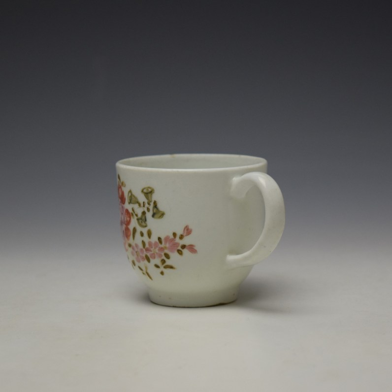 Lowestoft Early Tulip Painter Coffee Cup c1768-72 (5)