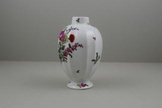 Worcester Porcelain European Flowers Pattern Fluted Tea Canister, C1765-68 (3)