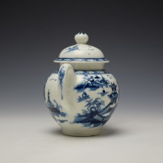 Lowestoft Pagoda and Zig Zag Fence Pattern Miniature Teapot and Cover c1775-85 (6)