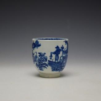 Worcester Fisherman Pattern Coffee Cup c1775-85 (2)