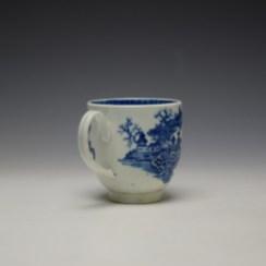 Worcester Fisherman Pattern Coffee Cup c1775-85 (4)