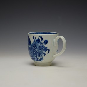 Worcester Fisherman Pattern Coffee Cup c1775-85 (5)