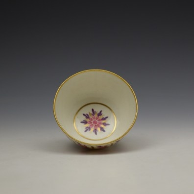 Caughley Floral Banded Swags Pattern Teabowl and Saucer c1790 (5)