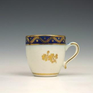 Caughley coffee cup and saucer c1790 (2)