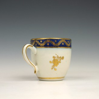 Caughley coffee cup and saucer c1790 (4)