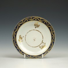 Caughley coffee cup and saucer c1790 (7)